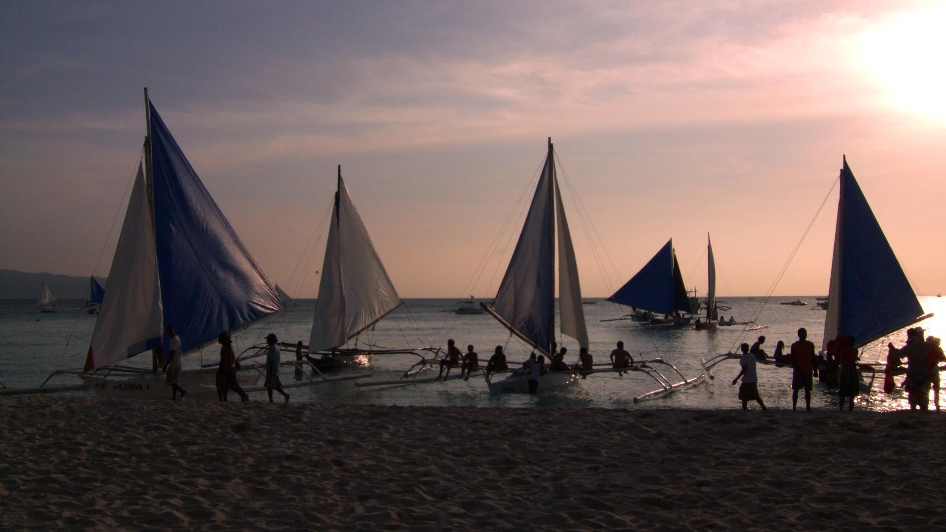 ボラカイ島夕暮れカヌーboracay sunset canoe