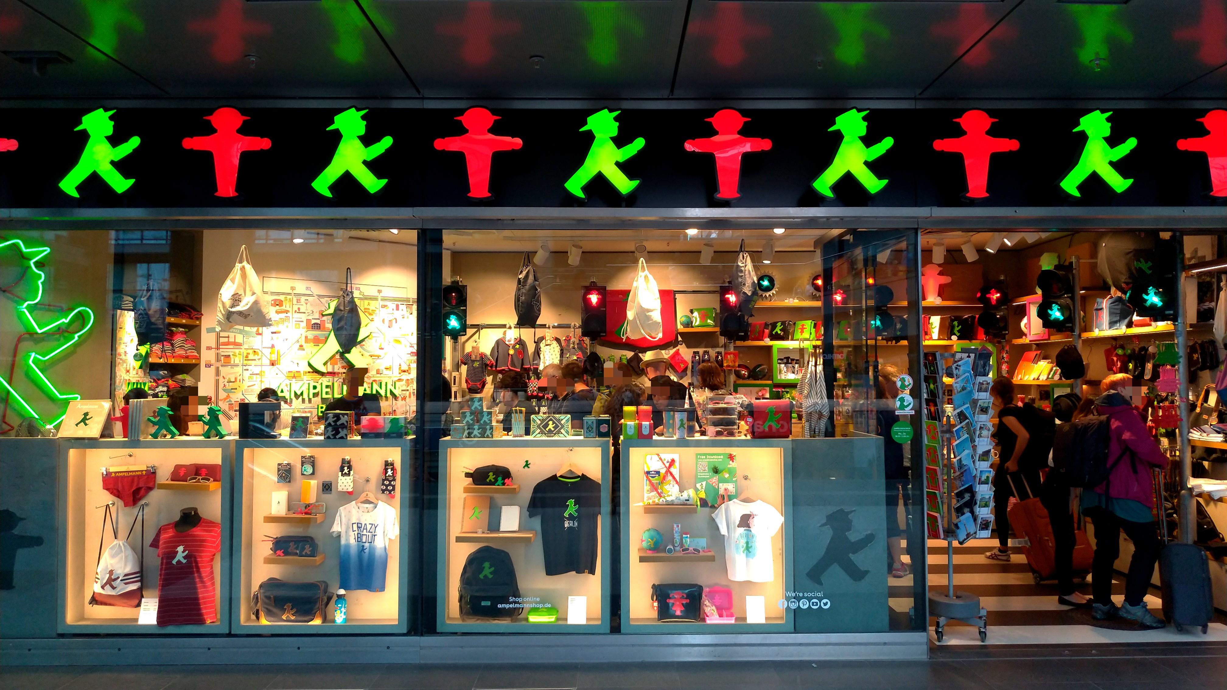 Ampelmann Shop Berlin Hbf アンペルマンショップ ベルリン中央駅店